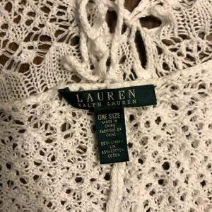 Ralph Lauren One Size white poncho
